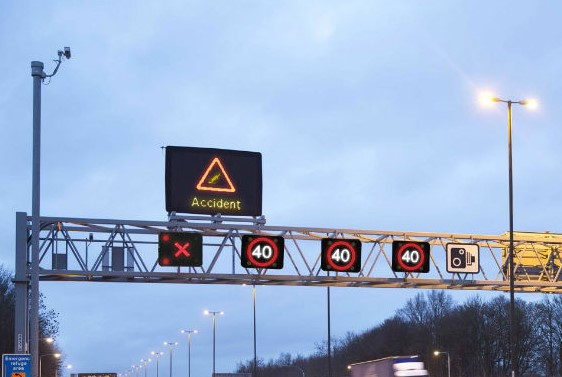 Vehicles on a smart motorway