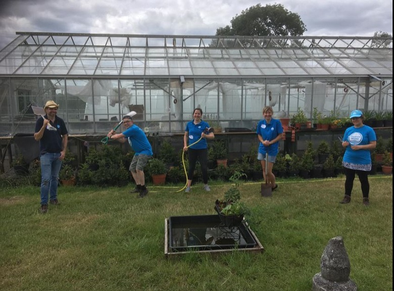Thames Water volunteers at Ways and Means Greenshoots garden