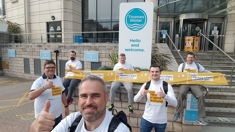 End of River Thames charity walk