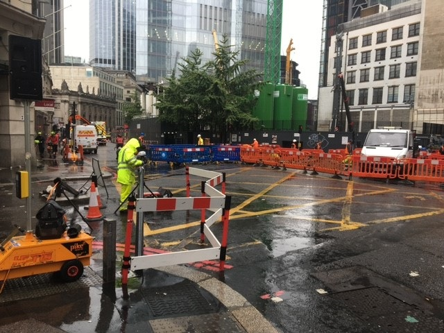 The award-winning work site in the City of London