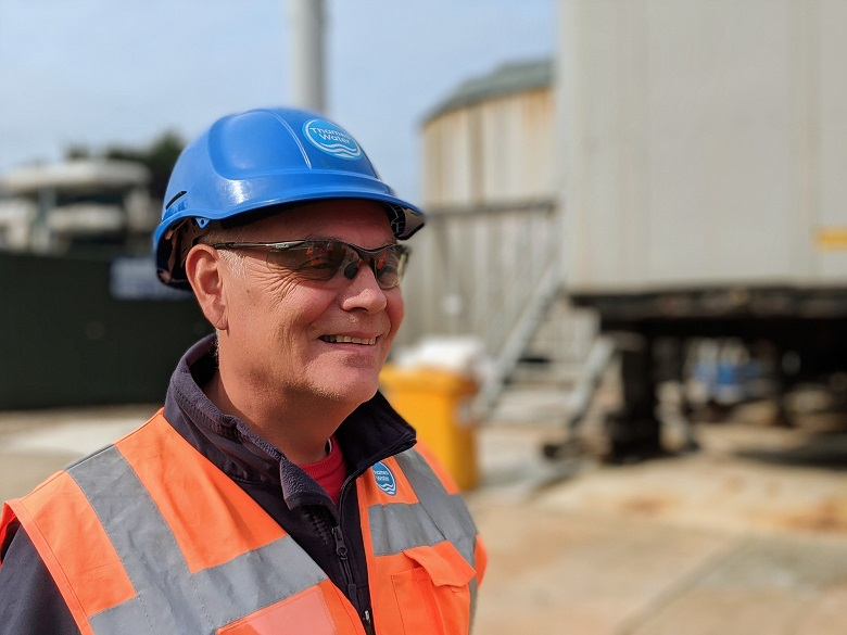 Chris Newman at Chertsey Sewage Works