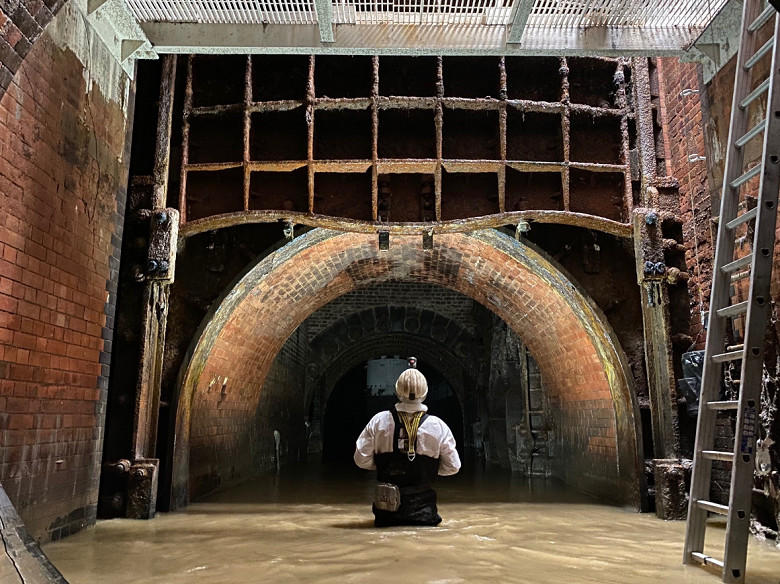 Inside the Northern Outfall Sewer