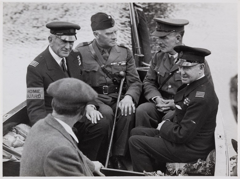 Men of the River Thames Home Guard during World War Two