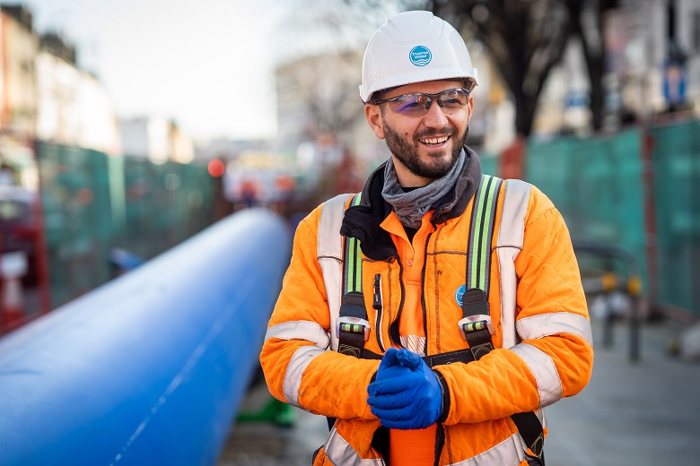 A 4km water main is being installed in Greenwich, London. (File photo)