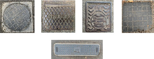 Photograph of examples of outside stop valve covers